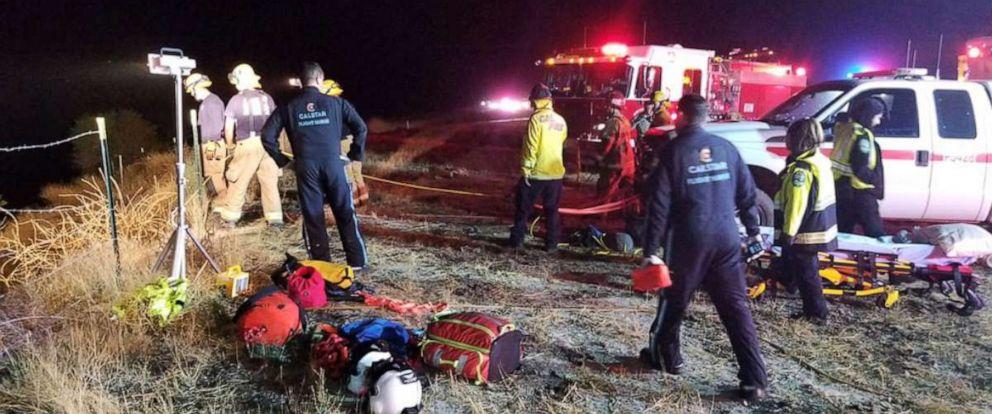 PHOTO: A tour bus crashed off a highway near Shandon, Calif., Sept. 18, 2019.