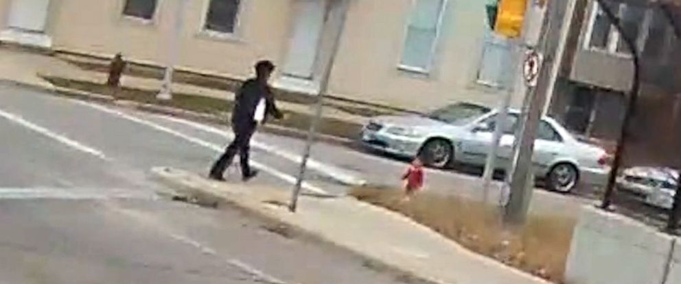 PHOTO: Video shared by the Milwaukee County Transit System shows bus driver Irena Ivic stopping her bus to rescue a crying child that was wandering barefoot down a highway overpass early on Dec. 22, 2018.