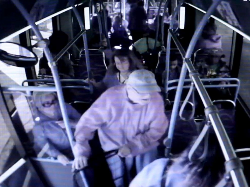 PHOTO: Cadesha Bishop, 25, pictured in this newly-released surveillance video just before police say she pushed 74-year-old Serge Fournier off a public bus in Las Vegas on March 21, 2019.