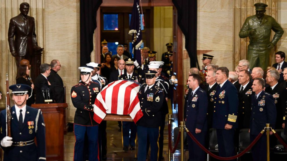 George H W Bush In Washington For Final Honors Before Burial In