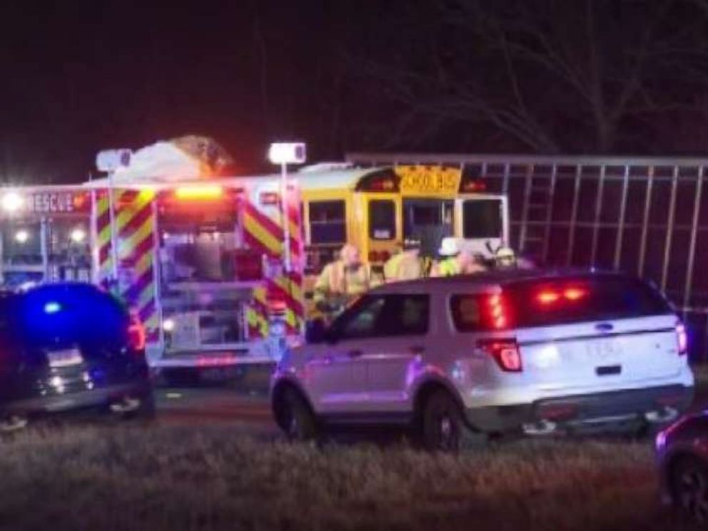 Police responded to a fatal school bus crash in Illinois on Wednesday, Dec. 5, 2018.
