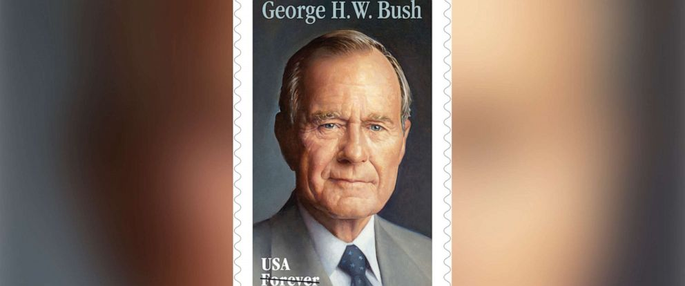 PHOTO: A commemorative Forever stamp honoring former President George H.W. Bush will be issued on his birthday, June 12. A first-day-of-issue ceremony will be held that day at the George H.W. Bush Presidential Library and Museum in College Station, Texas.