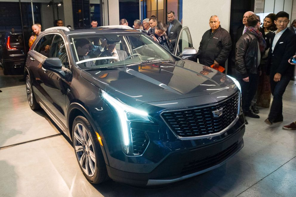PHOTO: Cadillac unveils its SUV called the XT4 at the New York Auto Show, March 27, 2018.