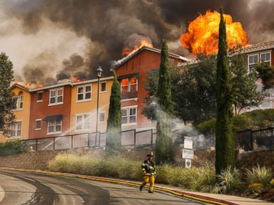Wildfires rage through California wine country