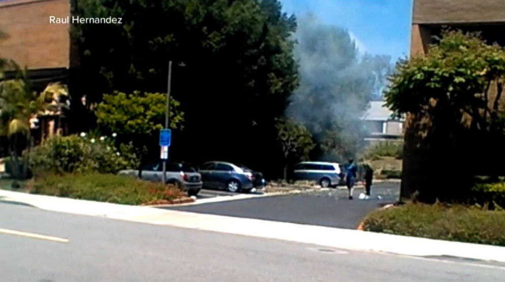 PHOTO: The scene of an explosion in Aliso Viejo, Calif., is pictured May 15, 2018.