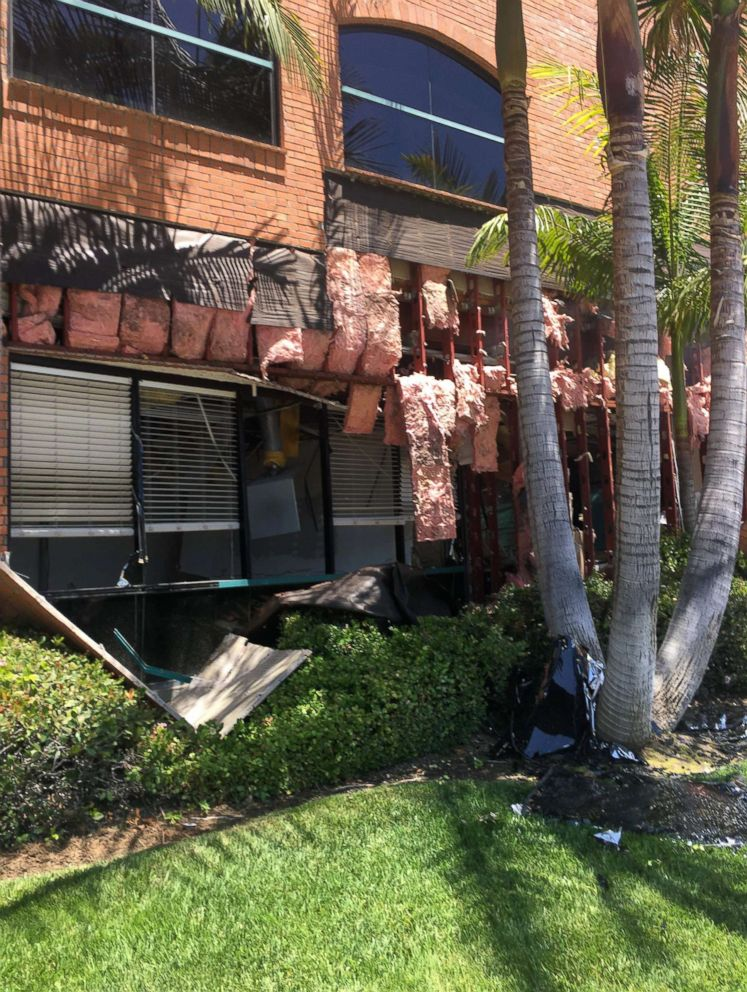 PHOTO: The aftermath of an explosion at a building in Aliso Viejo, California, May 15, 2018.