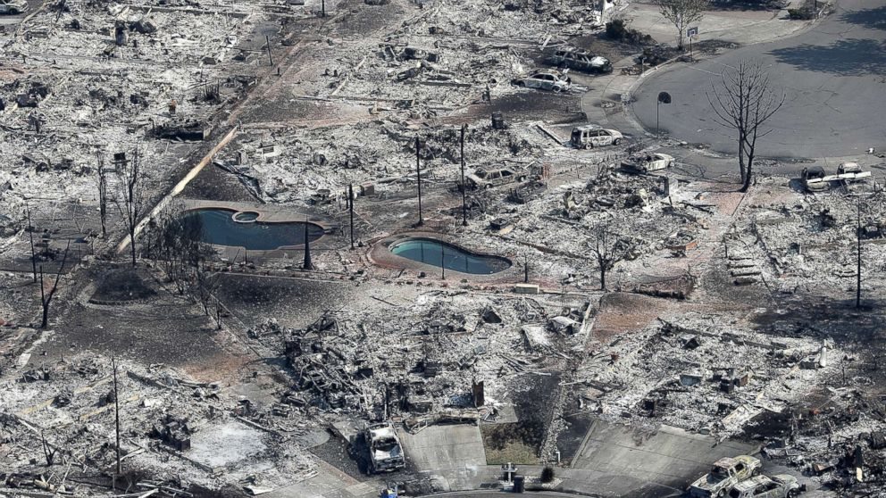 Thousands of homes and businesses that were destroyed by the Tubbs fire in Santa Rosa, Calif., Oct. 11, 2017.