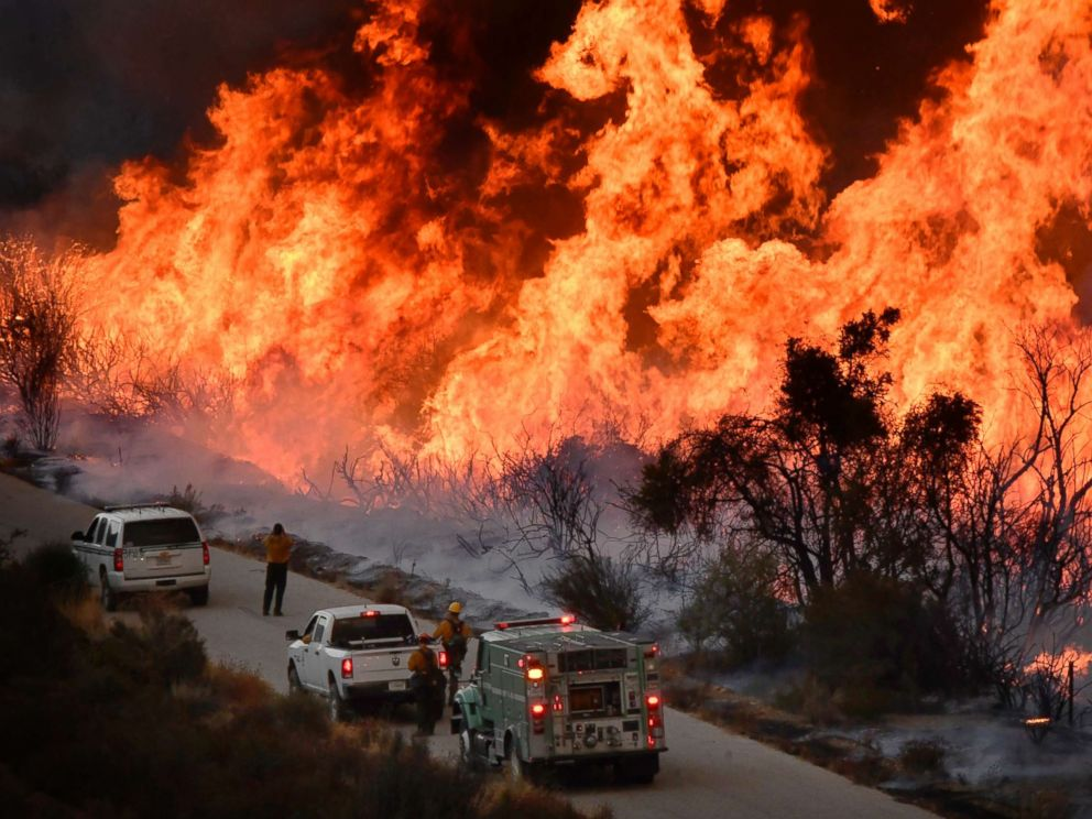 Fire In San Diego Today >> As California firefighters get ahead of some wildfires, others still rage - ABC News