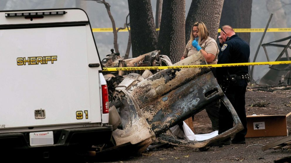California wildfires toll climbs to 87 almost 500 still