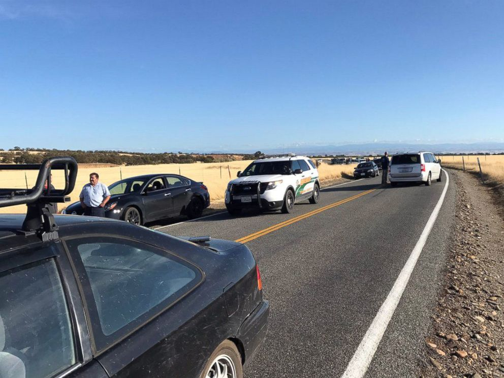 PHOTO: Traffic backs up about 10 miles outside Rancho Tehama, Calif., about 20 miles west of Red Bluff, on Nov. 14, 2017.