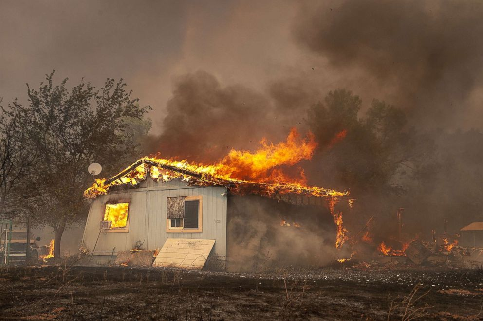 Mendocino Complex Fire now 4th largest wildfire in California history