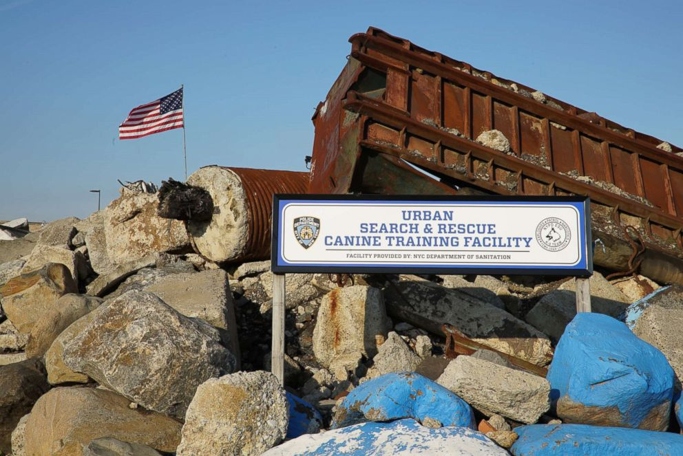 PHOTO: The rubble pile that is used for FEMA Urban Search and Rescue team certification in Staten Island, N.Y.