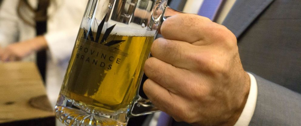PHOTO: Toronto based company, Province Brands, is preparing to be the first to sell cannabis-infused beers once legalized marijuana is implemented in Canada.