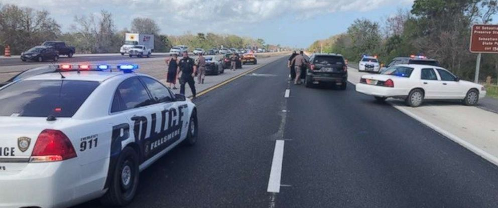 PHOTO: A man called 911 to say his gas pedal was broken as his car barreled down Interstate 95 in Florida at nearly 100 mph, Feb. 12, 2018.