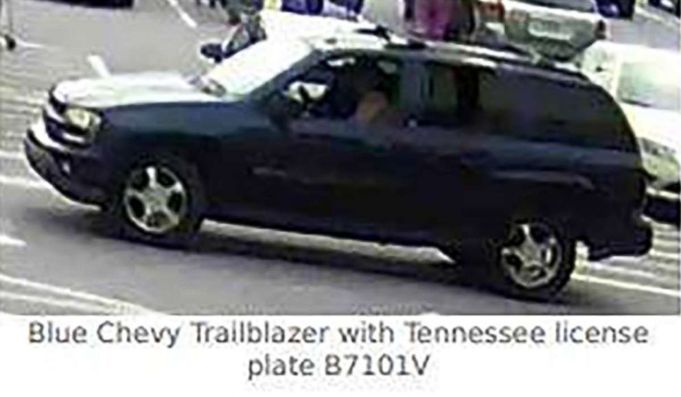 PHOTO: Richard Tester is believed to be traveling with Grace Olivia Galliher in a blue 2004 Chevrolet Trailblazer with the Tennessee license plate B7101V.