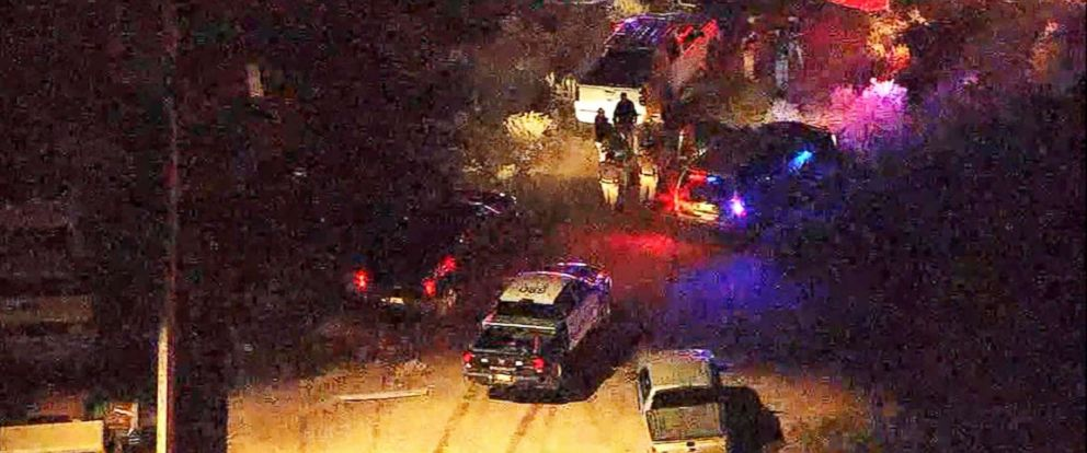 PHOTO: A high-speed car chase in Arizona had a bizarre ending when the suspects embraced shortly after their daring run from authorities ended.