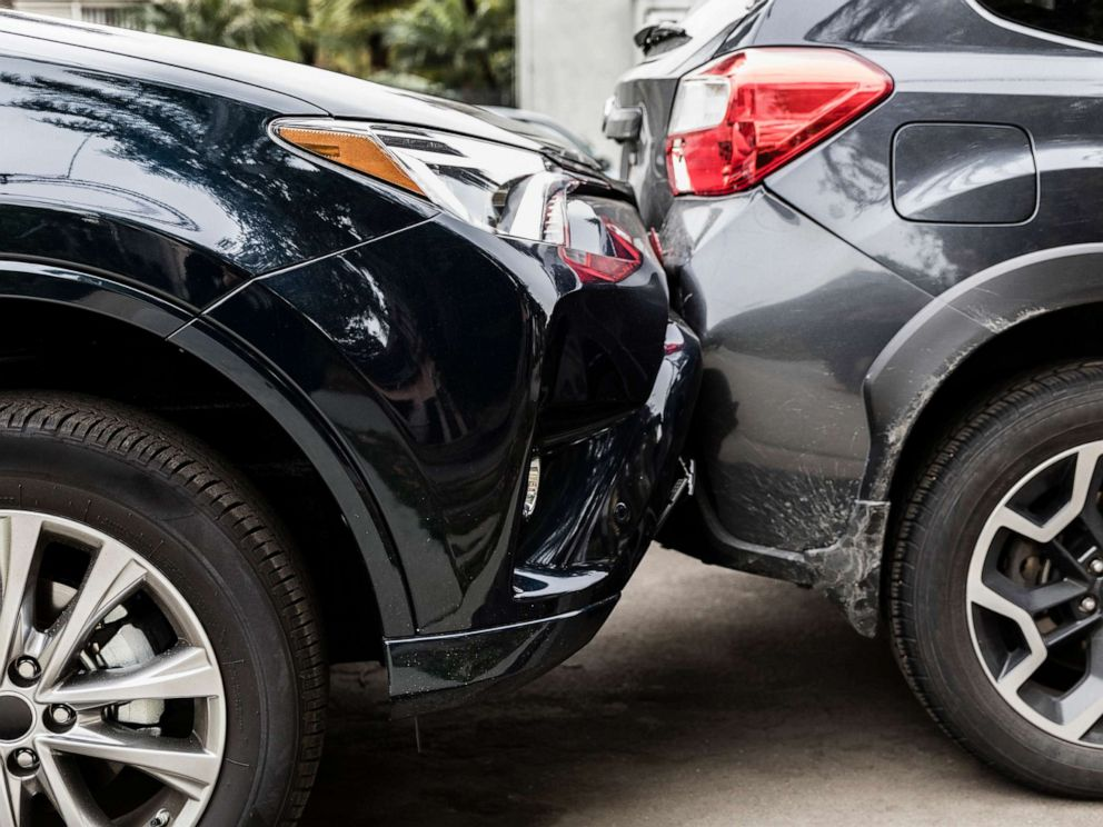 PHOTO: Vehicles involved in a crash are pictured in this undated stock photo.