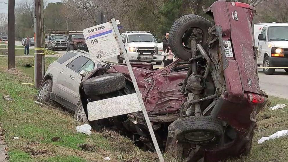 One person was killed when a 14-year-old driver crashed into their vehicle in Houston on Tuesday, Jan. 1, 2019.