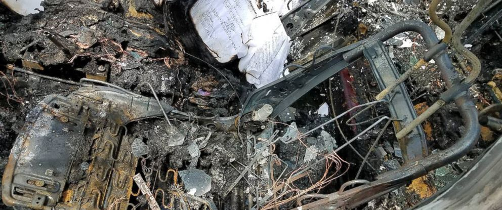 PHOTO: A Detroit womans Samsung phones allegedly exploded in her Nissan sedan, May 21, 2018.