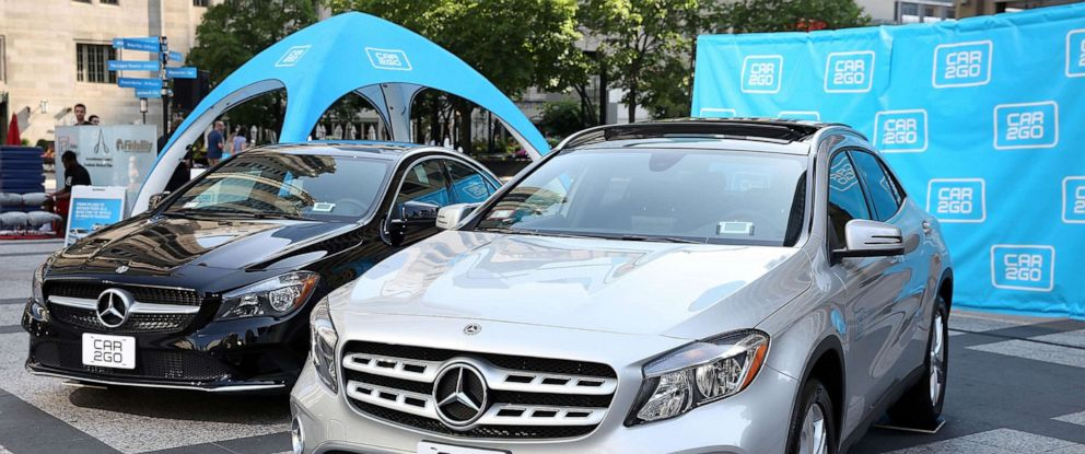 PHOTO: Car2go launches with new Mercedes-Benz CLA and GLA vehicles in Pioneer Court, Chicago, July 25, 2018.