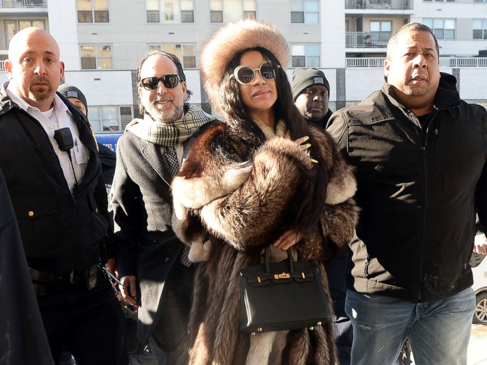 Cardi B Court: Cardi B Braves Cold, Rocks Fur, For Court Appearance In