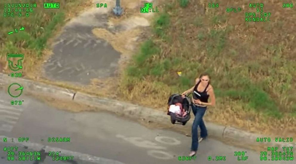 Texas woman takes off with baby after crashing car in chase