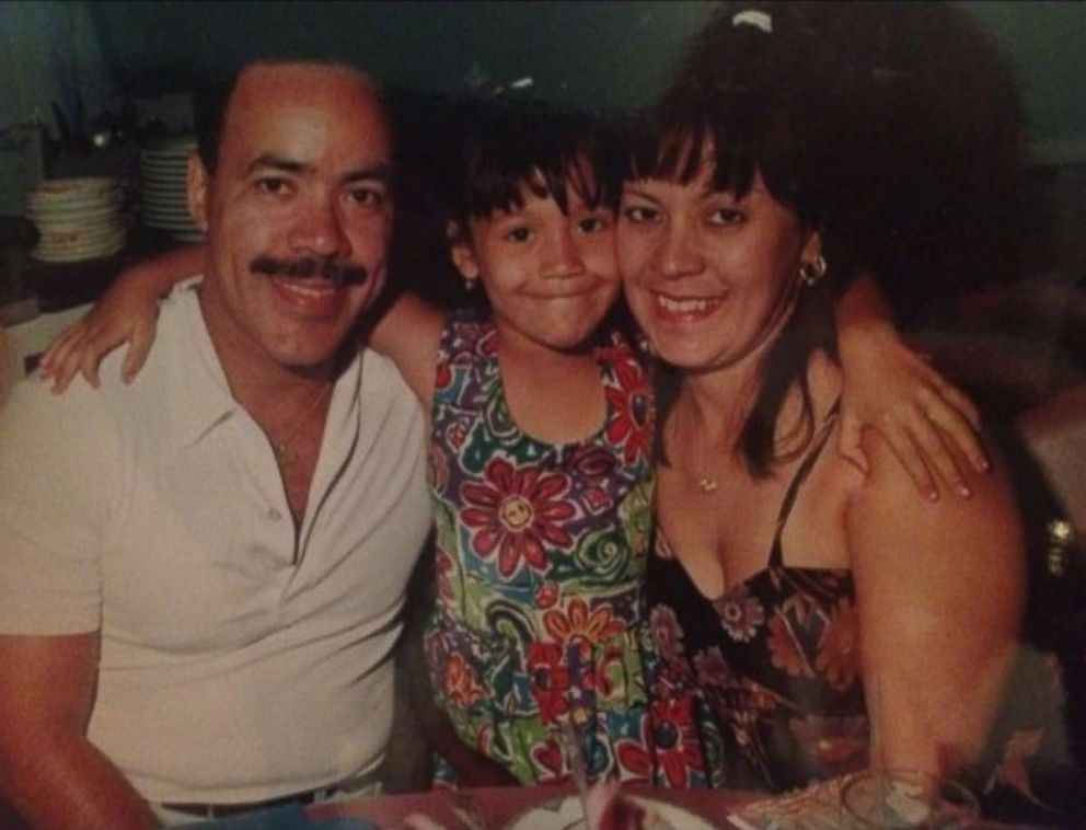 PHOTO: Seen in this undated photo, Carmen Suarez, Jillian Suarez and NYPD Officer Ramon Suarez. Officer Suarez died during rescue efforts at the World Trade Center on Sept. 11, 2001.