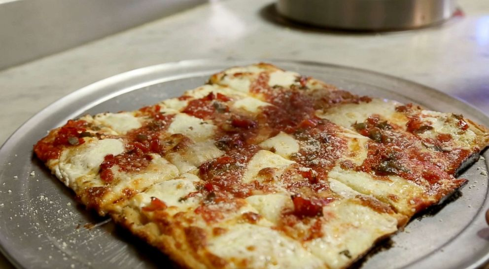 PHOTO: Homemade pizza is photographed here at Carmines Pizza Factory in Jersey City, New Jersey.