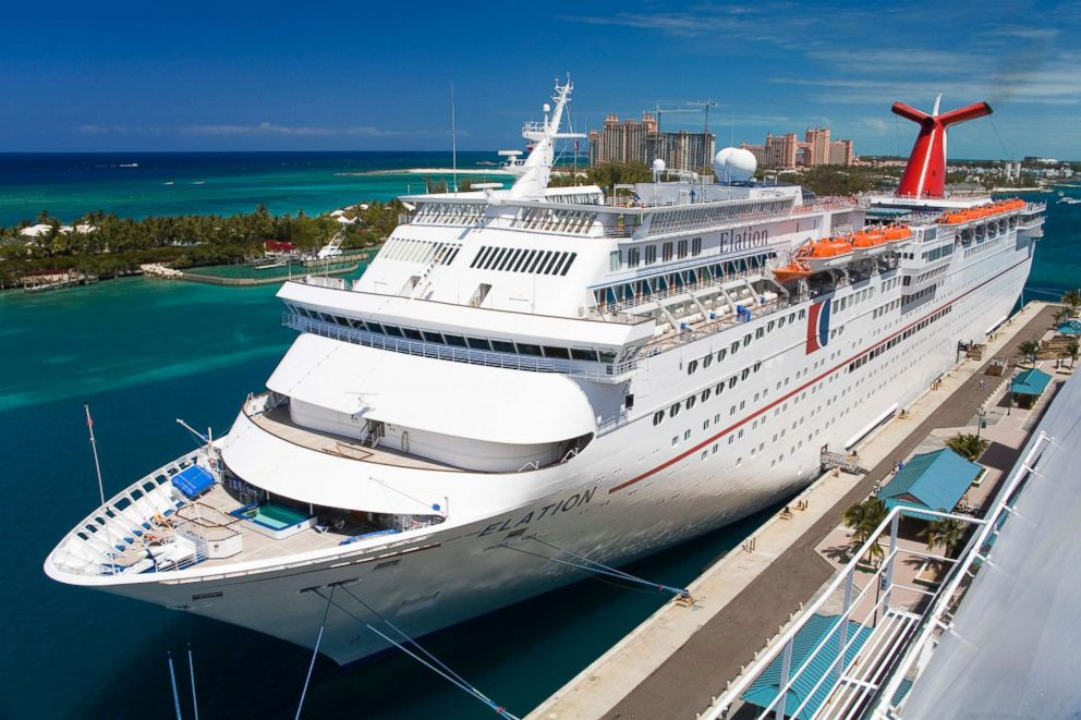 PHOTO: A Carnival Elation cruise ship in Nassau, Bahamas appears in this undated stock photo.
