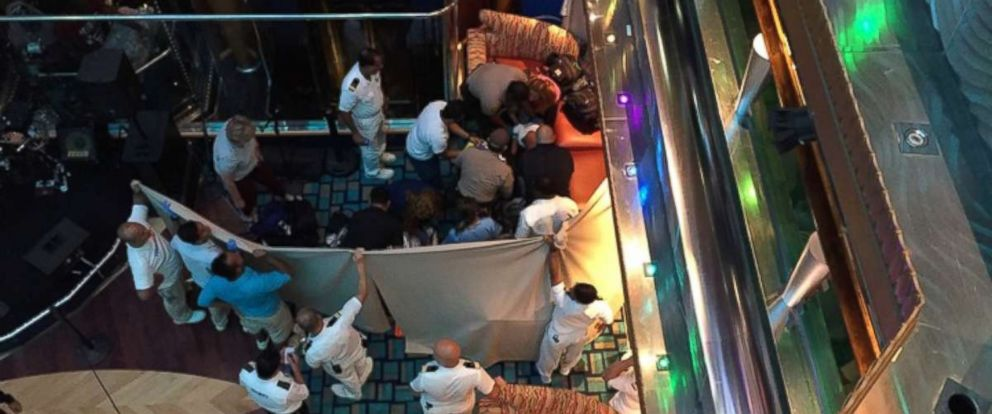 Girl dies after falling from cruise ship's interior deck to one