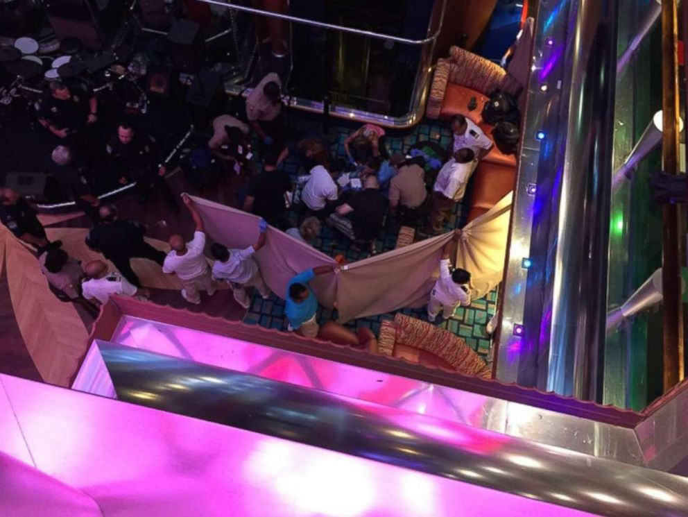 PHOTO: A girl fell from one deck to another on the Carnival Glory cruise ship in Miami, Oct. 14, 2017.