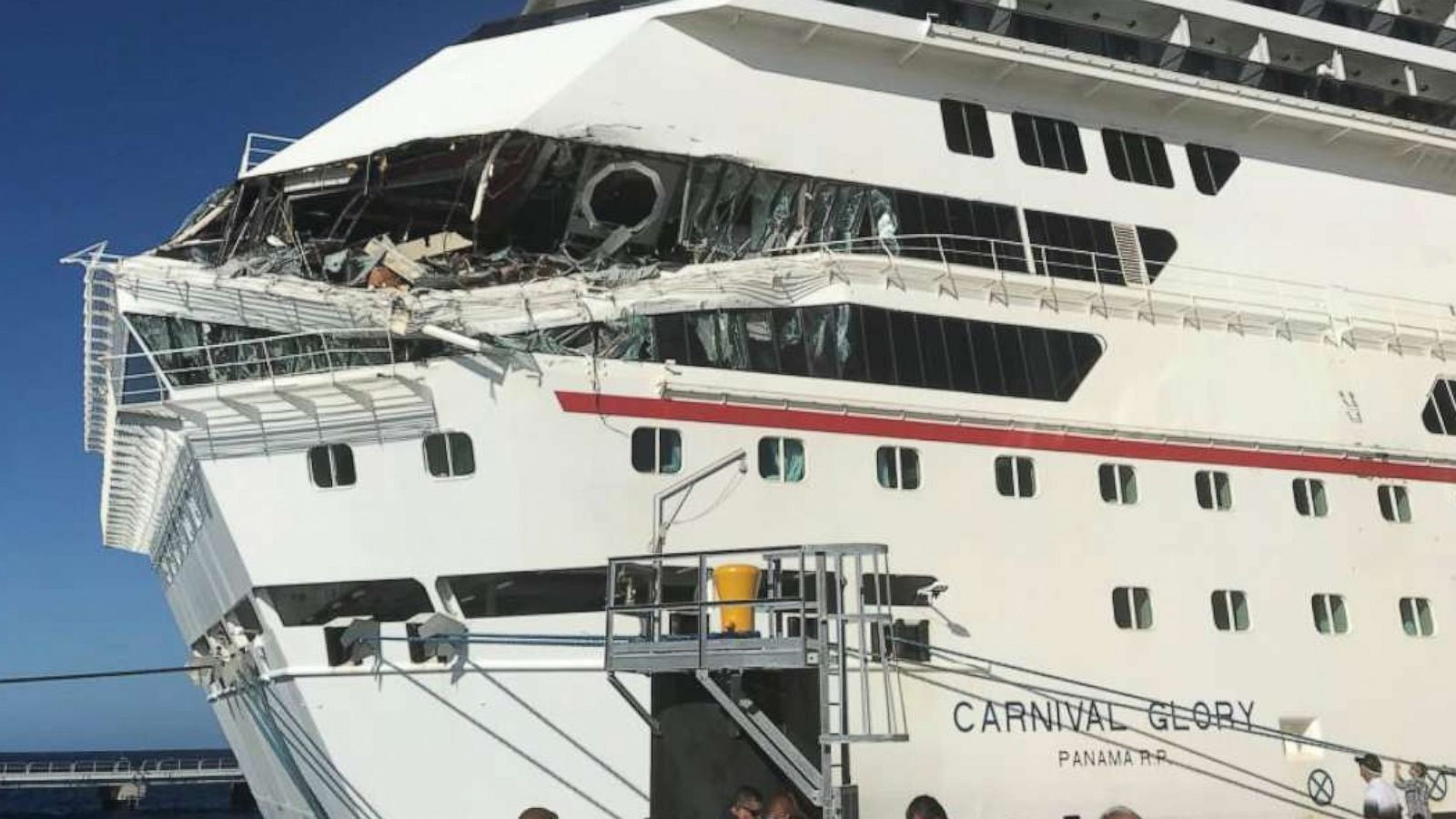 Carnival Cruise Assessing Damage To 2 Ships After Collision Abc News