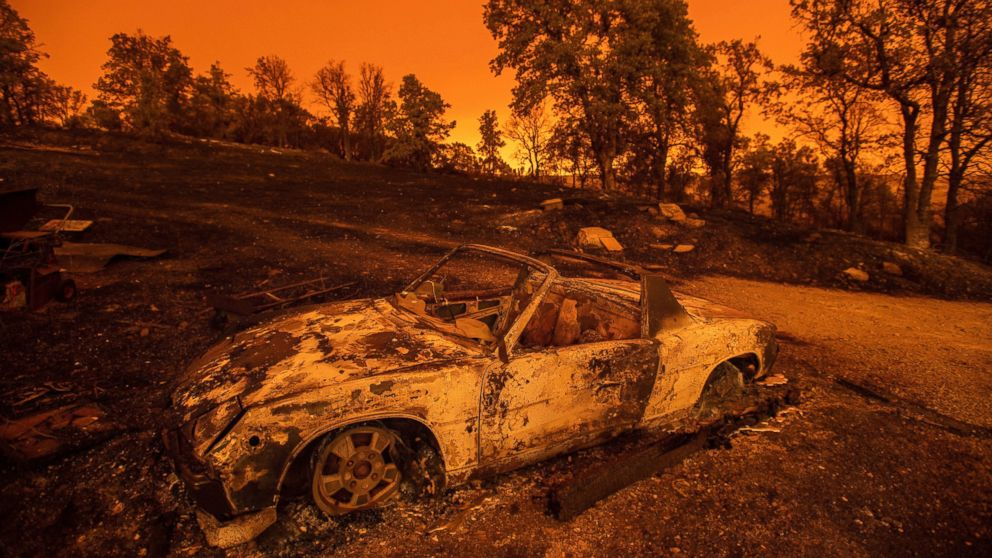 Drive through Carr Fire near Redding reveals apocalyptic scenes