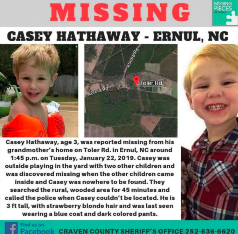 North Carolina authorities say missing boy found alive in good health