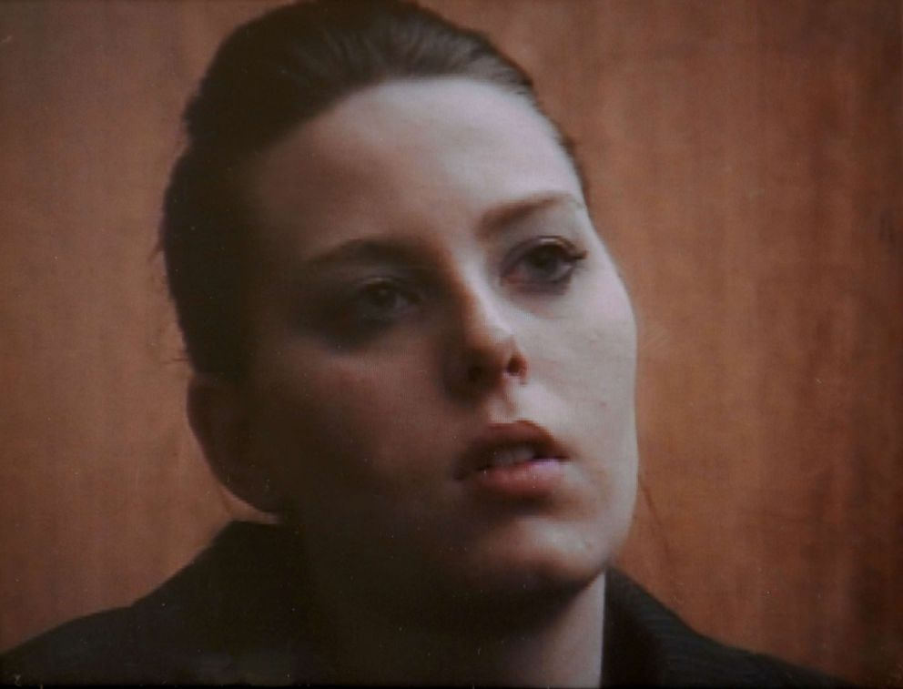 PHOTO: Stacey Castors daughter Ashley Wallace takes the stand, Jan.14, 2009,in this photo from pool video, as the prosecutions first witness to tearfully testify about the deaths of her father and stepfather.