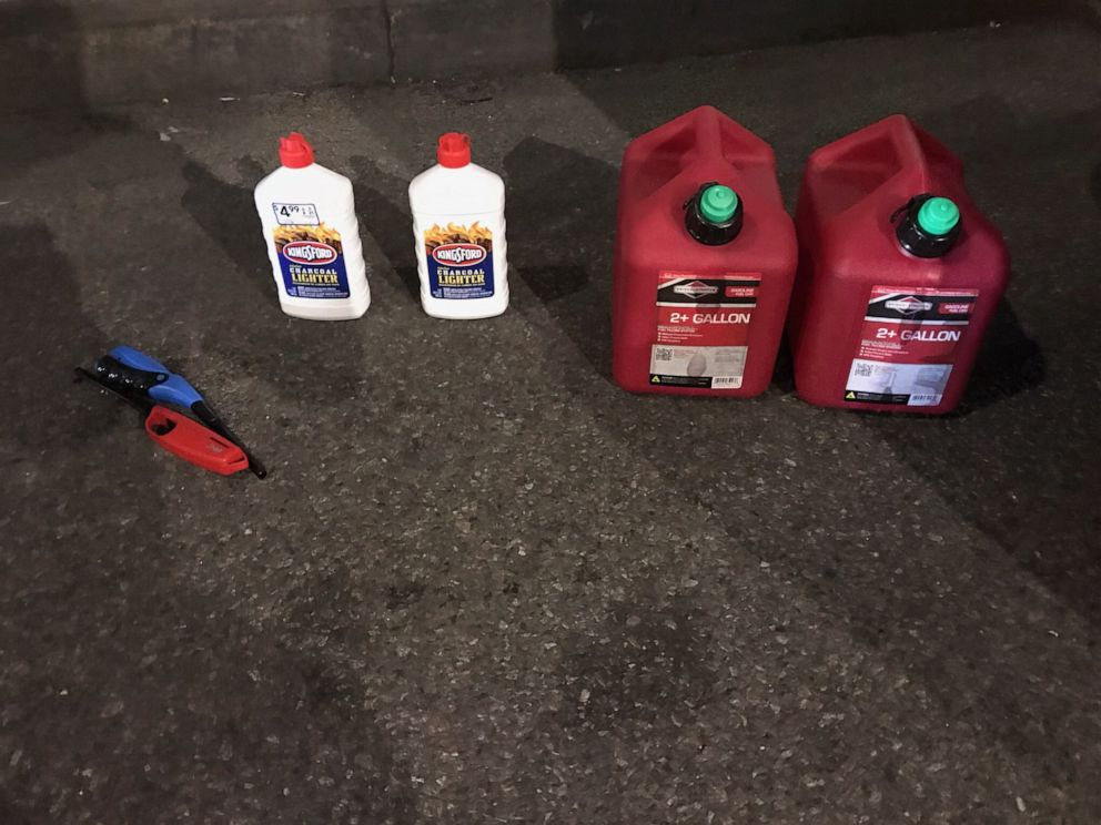 PHOTO: A man was arrested trying to enter St. Patricks Cathedral in Manhattan, N.Y., with two gas canisters, lighter fluid and lighters on Wednesday, April 17, 2019.