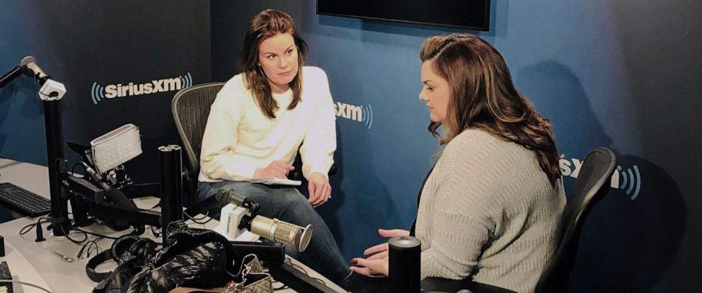 "PHOTO: Abby Johnson, whose life is the subject of a new film called ""Unplanned,"" speaks with ABC News Lauren Cavalea in New York."