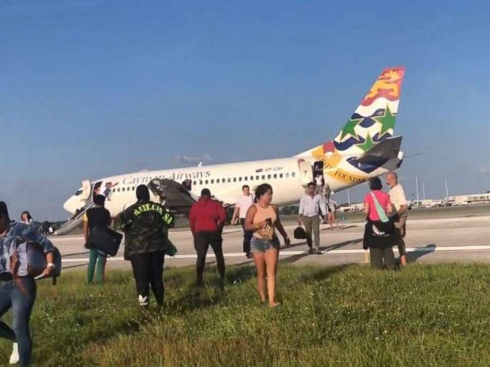 PHOTO: Cayman Airways flight KX792 made an emergency landing in Orlando, Fla., on Sunday, Sept. 8, 2019.