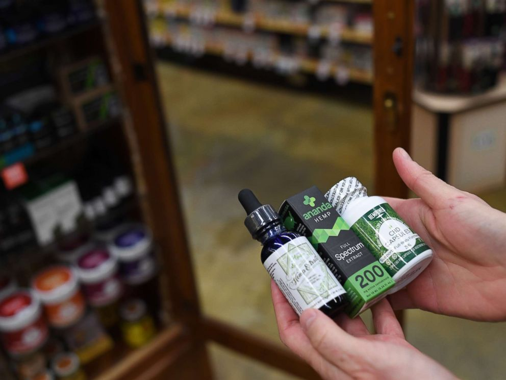 PHOTO: CBD oil is seen in a store, Dec. 4, 2017, in Boulder, Colo.