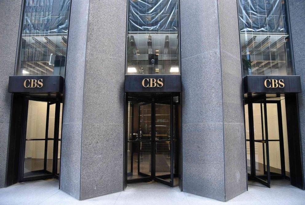 PHOTO: The CBS logo is seen at the CBS Building, headquarters of the CBS Corporation, in New York City, Aug. 6, 2018.