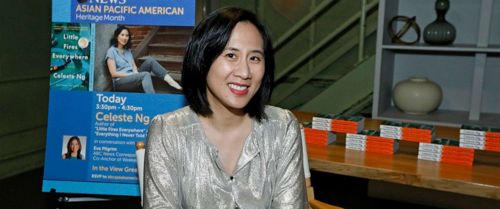 """PHOTO: Author Celeste Ng discusses her novel """"Little Fires Everywhere,"""" as well as representation in publishing, in honor of Asian Pacific American Heritage Month."""
