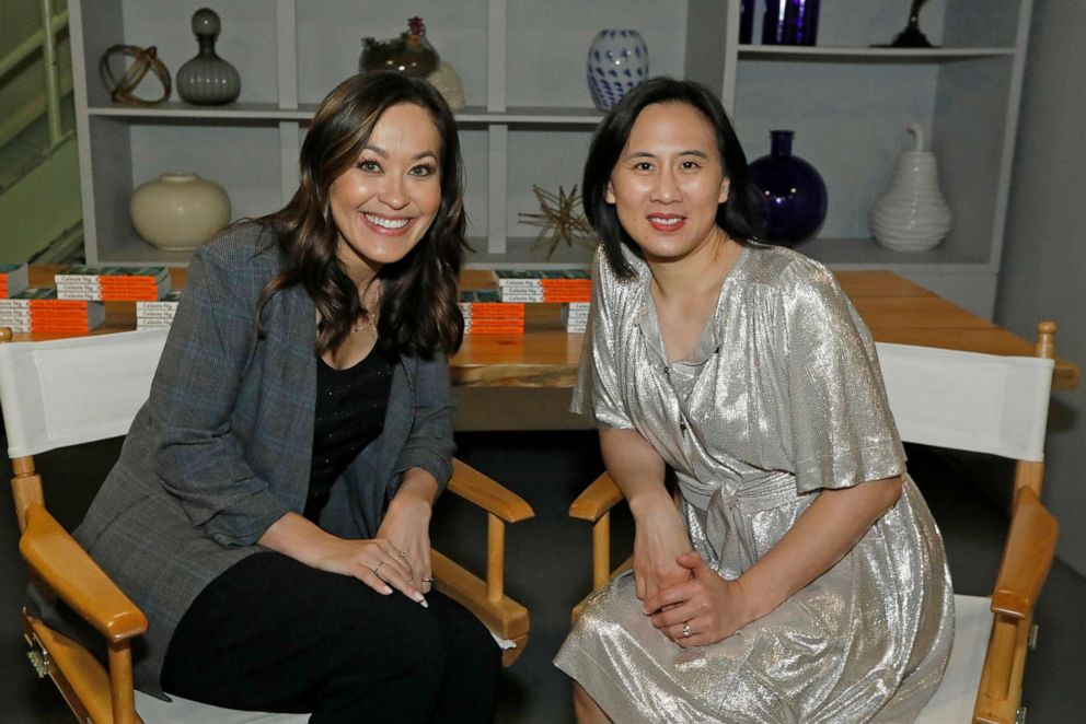 PHOTO: Author Celeste Ng, right, speaks with ABC News Eva Pilgrim, left, in honor of Asian Pacific American Heritage Month.