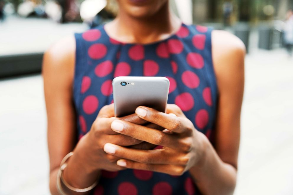 PHOTO: A woman uses a cellphone in this stock image.