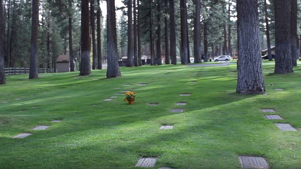 The cemetery where murder victim Carol Andersen is buried. Anderson's body was found in South Lake Tahoe in 1979.