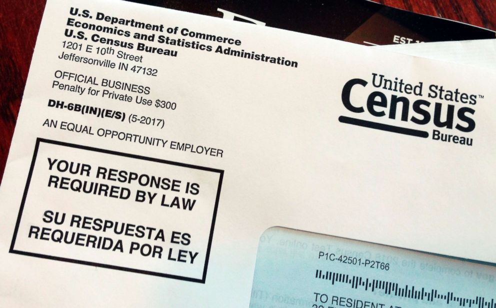PHOTO: This March 23, 2018 file photo shows an envelope containing a 2018 census letter mailed to a U.S. resident as part of the nations only test run of the 2020 Census.