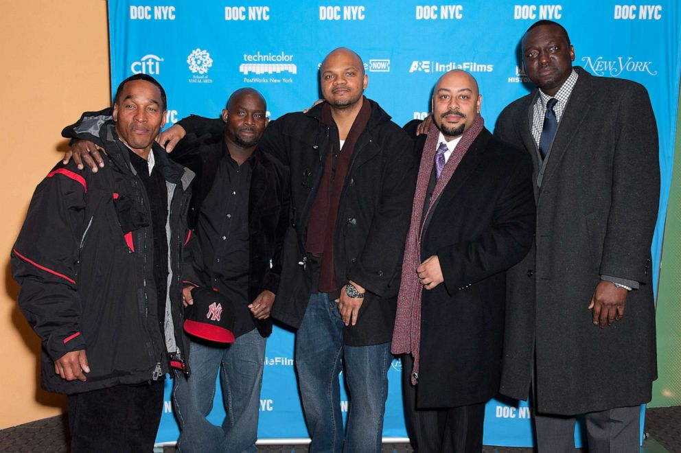 PHOTO: Korey Wise, Antron McCray, Kevin Richardson, Raymond Santana, and Yusef Salaam attend the 2012 NYC Doc Festival Closing Night Screening Of The Central Park Five at SVA Theater on Nov. 15, 2012 in New York City.