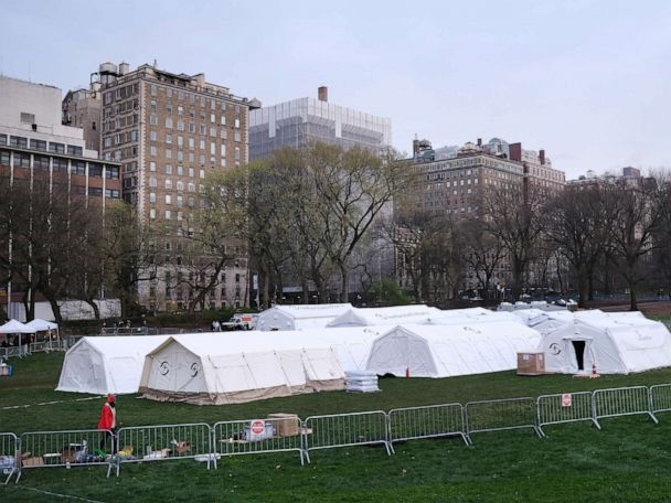 Central Park will be the site of a new hospital for coronavirus patients