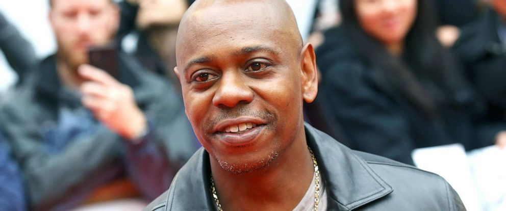 "PHOTO: Dave Chappelle arrives to the premiere of ""A Star is Born"" during the 2018 Toronto International Film Festival, Sept. 9, 2018, in Toronto, Canada."