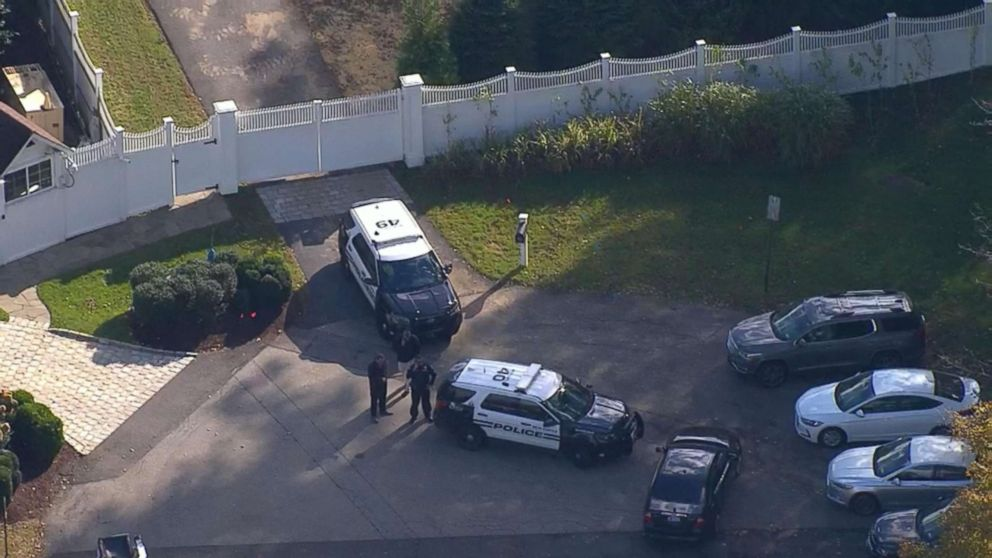 An aerial view of the Clinton's house in Chappaqua, N.Y., on Oct. 24, 2018.