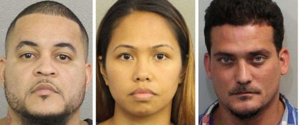 "PHOTO: From left: Luis Rivera, Katherine Magbanua and Sigfredo ""Tuto"" Garcia were charged in FSU law professor Dan Markels murder."
